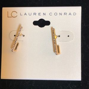 Rhinestone hook earring by lc Lauren Conrad